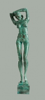 Patinated bronze female figure. 2014. 33cm.