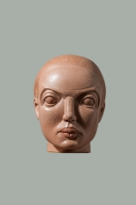 Terracotta female head. 2010. 22cm.