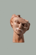 Terracotta head. 2012. 20cm.