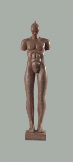 Terracotta male figure. 2009. 38cm.